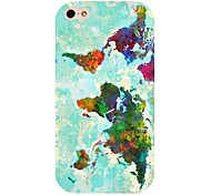 Colorful Map Pattern Back Case for iPhone 4/4S