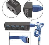 Superspeed 4-port USB 3.0 Hub with Individual Power Switches and Leds for Macbook Air
