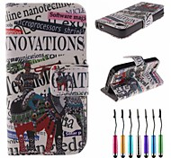 War Elephant Pattern PU Leather Full Body Case with Touch Pen for iPhone 4/4S