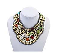 European Style Women's Handmade Necklace with Resin Beds N127