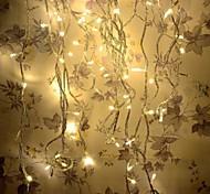 8 modos de 10m 100 levou fadas corda feriado morno festa de natal branco do casamento de luz (branco quente com plug cauda)