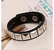 Leather Rivets Bracelet