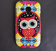 The Owl Pattern TPU With Flash Powder Back Cover for S3 Mini I8190N