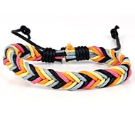 Fashion Braided Bracelet Simple and Comfortable Black Blue Orange (1 Piece)