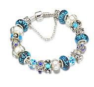 Blue Charm Bracelet for Christmas Gift