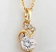 Women's Zircon Necklace High-Grade Pendant