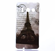 Beautiful Eiffel Tower Pattern TPU Soft Case for Huawei Y300
