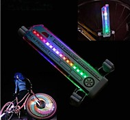 LS062 32 Changes Cycling Bike Bicycle Tire Wheel Valve 16 Led Flash Light