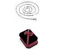 Women's Classic Fashion Pendant Necklace Copper Necklace Gift Box Set