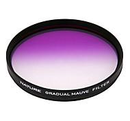 natureza 86 milímetros filtro de cor roxa graduada