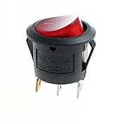 3-Pin DIY Rock Switch Modules w/ Red LED Indicator - Black (10pcs)