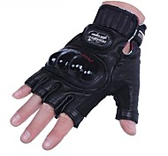 High Quality Warm Windproof Protective Short Half Finger Racing Cycling Bike Glove Motocross Leather Motorcycle Gloves