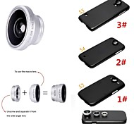 Apexel 3 in 1 Wide Angle Lens /Macro Lens/180 Fish Eye Lens with Back Case for Samsung Galaxy S3/S4/S5(Assorted Colors)