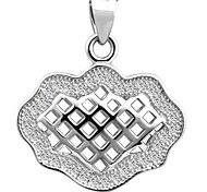 925 Sterling Silver with Diamond Hollow Out Lucky Lock Pendant