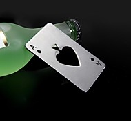 Casino the A of spades Stainless Steel Bottle Opener  8.5*5.5*0.19 cm(3.35*2.17*0.07 inch)