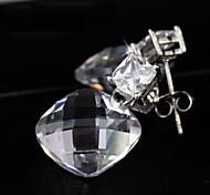 The Clear Stone Earrings Jewelry,in 925 Sterling Silver Earrings Jewelry,Cubic Zirconia Earrings,Women's Earrings
