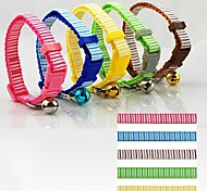 Vertical Stripes Pattern Nylon Fashion Collar for Cats and Puppy(Random color shipping)