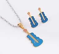 Fashion Titanium Steel Guitar (Necklace&Earrings) Jewelry Set
