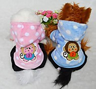 Dog Coats / Sweaters / Hoodies - S / M / L / XL - Winter - Blue / Pink Cotton / Woolen