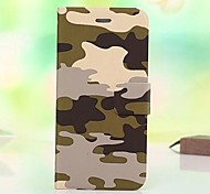 Camouflage Pattern PU Leather Full Body Case for iPhone 6