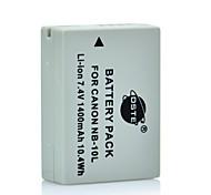 DSTE 7.4V 1400mAh NB-10L Li-ion Battery for Canon SX40 HS Power Shot SX40 SX50