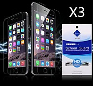 HD Screen Protector with Dust-Absorber for iPhone 6  (3 PCS)