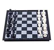 tragbare Mini-Magnetschachspiel in Faltschachtel - schwarz + weiß