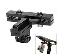 Fat Cat Aluminum Alloy Cycling Bike Bicycle 2-Rail saddles Seat Mount for GoPro Hero4/3/2 +SJ4000