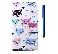 Fox Pattern PU Wallet Leather Case and Pen with Stand for HTC One mini 2/ M8 mini