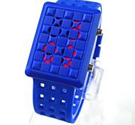 Men's Square Silicone Movement Fashion Wrist Watch(Assorted Colors)