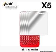 Protector de pantalla de espejo de alta transparencia para q5 blackberry (5 piezas)
