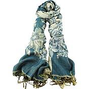 Frauen `s 2014 neue Designs elegante Baumwollblume druckte Mode Schal