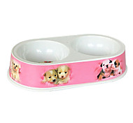 Dogs Pattern Food Bowl for Pets Dogs(Random Color)