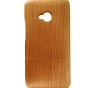 Kyuet Wooden Case Natural Handcrafted Cherry Wood Shell Cover Skin Cell Phone Case for Htc One M7