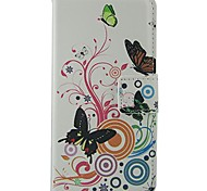 For Nokia Case Wallet / Card Holder / with Stand Case Full Body Case Butterfly Hard PU Leather Nokia Nokia Lumia 630