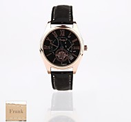 Personalized Gift New Style Women's  Black Dial PU Leather  Band Analog Engraved Watch(Assorted Colors)