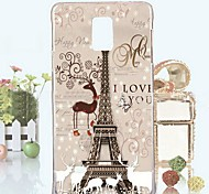 Fashion Relief Painting Christmas Tower PC Hard Case for Samsung Galaxy Note 4