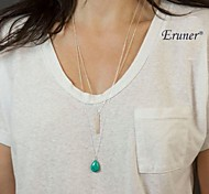 Eruner® Turquoise Stone Necklace / Long Turquoise Necklace from Layered and Long