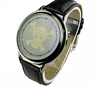 Men's LED Touch Screen  PU Band Wrist Watch (Assorted Colors)