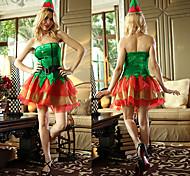 Verde Angelo Naughty Girl Velvet Costume di Natale