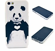 Lovely Heart Panda Pattern Hard Case for  iPhone 4/4S