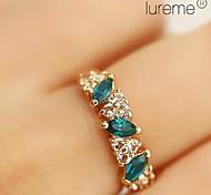 lureme®vintage Legierungsschmelzkristalle Ring