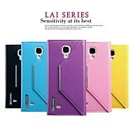 promotion Lai deux étuis en cuir série de téléphone pour le i9500 de Samsung Galaxy (couleurs assorties)