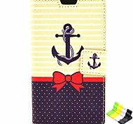 Anchor Pattern PU Leather Full Body Case with Stand and Phone Holder  for Nokia Lumia 625