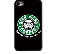 Forth Be with You Design Aluminum Hard Case for iPhone 4/4S