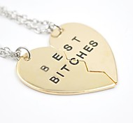 Golden / Silver Pendant Necklaces Daily / Casual Jewelry