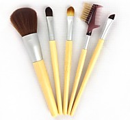 5 Makeup Brushes Set Nylon Others