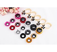 "3in1 Fish Eye+0.67X Wide Angle+Macro Lens Kit for iPhone 6 4.4""/5.5"" Nexus 4 HTC Samsung Sony etc."