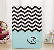 Anchors Pattern PU Leather Full Body Case with Stand and Card Slot for iPad mini 1/2/3