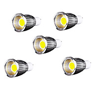 9W GU10 LED Spot Lampen / PAR Lampen MR16 9 COB 700-750 lm Kühles Weiß AC 85-265 V 5 Stück